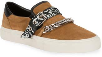 Amiri Men's Suede Slip-On Bandana Sneakers