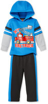 Nannette Baby Boys' 2-Pc. Layered-Look Firetruck Hoodie & Pants Set