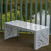 Decori Cutout Twig Pattern Metal Garden Coffee Table