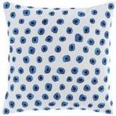 "Pine Cone Hill Thumbprint Embroidered Pillow, 20""Sq."