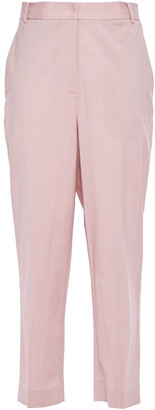 Tibi Cropped Stretch-wool Tapered Pants