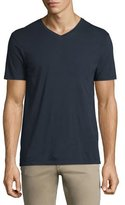 Vince Short-Sleeve V-Neck Pima Jersey T-Shirt, Navy