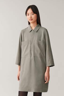 Cos ZIP-UP SHIRT DRESS