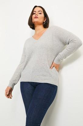 Karen Millen Curve Cashmere V Neck Jumper