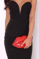 Rare Red Lips Clutch Bag
