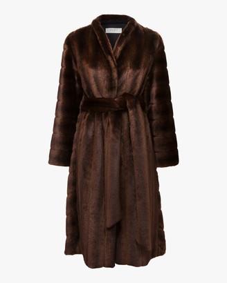 Marei 1998 Ecklonis Faux Fur Kimono Coat