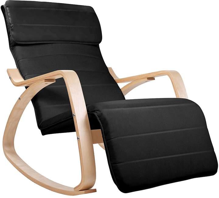 Resort Living Promotions Micah Rocking Chair, Black