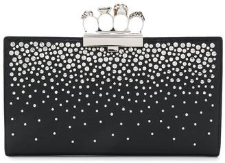 Alexander McQueen 4-Ring Stud-Embellished Clutch Bag