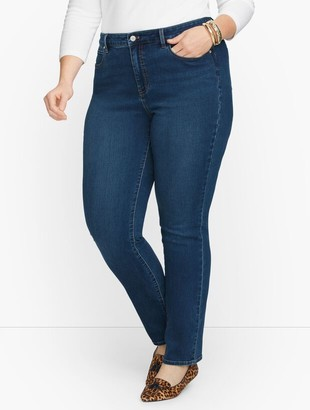 Talbots Plus Size Exclusive Straight Leg Jeans - Catalina Wash