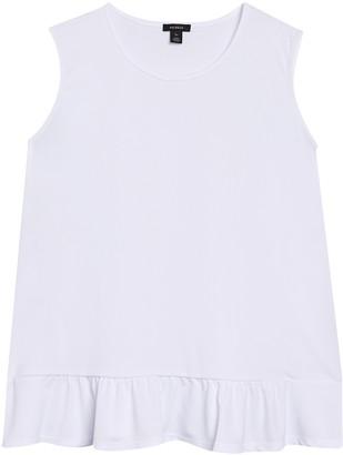 Halogen Sleeveless Peplum Top (Plus Size)