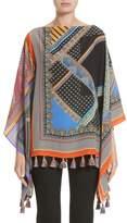 Etro Women's Patchwork Print Silk Poncho