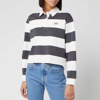 Levi's Women's Letterman Rugby Long Sleeve Cropped Top