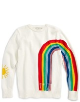 Stella McCartney Girl's Pumpkin Rainbow Sweater
