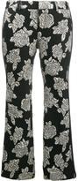 Faith Connexion rose cloqué trousers - women - Silk/Polyamide/Polyester/Spandex/Elastane - 36