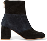 See by Chloe Two-tone Suede Ankle Boots - Black