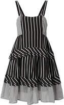 Twin-Set striped flared dress