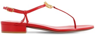 Valentino 20mm Vlogo Leather Thong Sandals