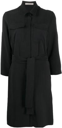 D-Exterior D.Exterior belted shirt dress