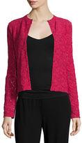 Fuzzi Long-Sleeve Lace Blouse