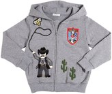 Dolce & Gabbana Cowboy Patches Zip-Up Cotton Sweatshirt