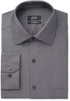 Alfani Men's Classic/Regular Performance Fit Black White Diagonal Dot Dress Shirt, Only at Macy's