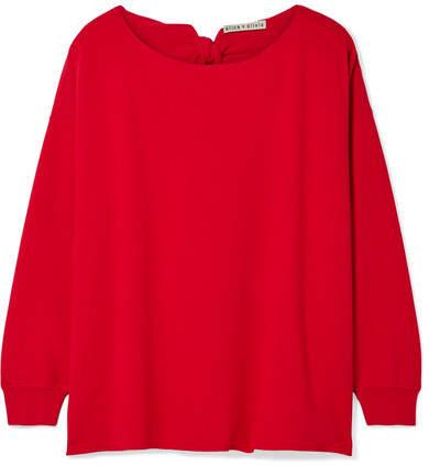 Alice + Olivia Alice Olivia - Oliva Tie-back Stretch-knit Sweater - Red