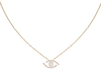 Messika Lucky Eye 18K Rose Gold & Diamond Pendant Necklace