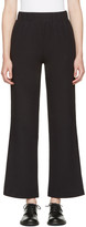 Hyke Navy Band Wide Trousers