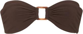 Anémone The Tortoise Ring-Detailed Bandeau Bikini Top