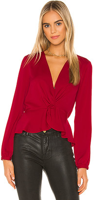 BCBGeneration Twist Front Blouse