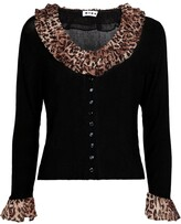 Thumbnail for your product : Rixo Laurel ruffle-trimmed knit cardigan