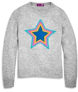 Aqua Girls' Cashmere Star Sweater, Big Kid - 100% Exclusive