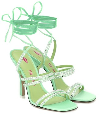 ATTICO Embellished satin sandals