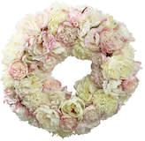 """Winward Silks 24"""" Peony Wreath - Faux"""