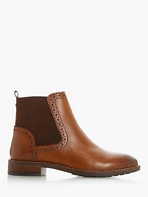Dune Quant Leather Trimmed Chelsea Boots