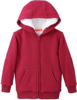 Joe Fresh Toddler Boys' Faux Fur Lined Hoodie, Dark Red (Size 5)