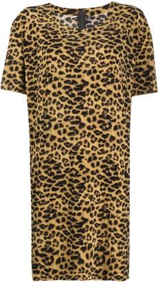 Norma Kamali Leopard Pattern Mini Dress