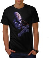 Cross Head Face Skull Men XXXL T-shirt | Wellcoda