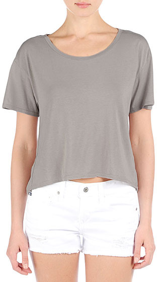 AG Jeans The Boxy Hi-Low Tee - Sand Dune