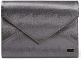 BMC Super Modern Metallic Faux Leather XL Nail Stamping Plate Carrier Envelope Style Statement Clutch