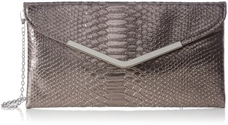 L.Credi Women 309-4577 Clutch Grey Size: 28x14x2 cm (B x H x T)