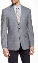 Vince Camuto Gray Plaid Two Button Notch Lapel Jacket