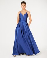 Speechless Juniors' Rhinestone Illusion Gown, Created for Macy's