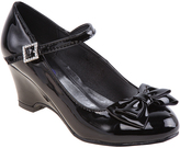 Josmo Black Patent Bow Buckle Mary Jane