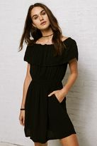American Eagle Outfitters Don't Ask Why Off-the-Shoulder Ruffle Dress