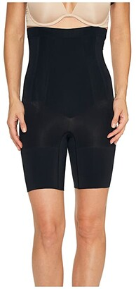 Spanx OnCore High-Waisted Mid-Thigh Short (Very Black) Women's Underwear