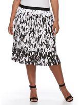 Apt. 9 Plus Size Splatter Accordion-Pleat Skirt