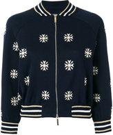 Alberta Ferretti snowflakes bomber jacket - women - Cotton/Polyester - 40