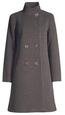 Cinzia Rocca Wool-Blend Double-Breasted Walking Coat