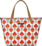 Petunia Pickle Bottom Downtown Tote Diaper Bag in Brittany Blooms, Red/Orange by